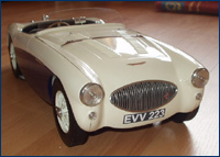 Austin Healey 100s front view